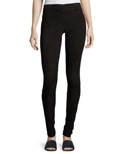 Stouls Carolyn Super-Skinny Lambskin Suede Leggings