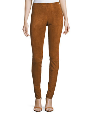 Carolyn Super-Skinny Lambskin Suede Leggings