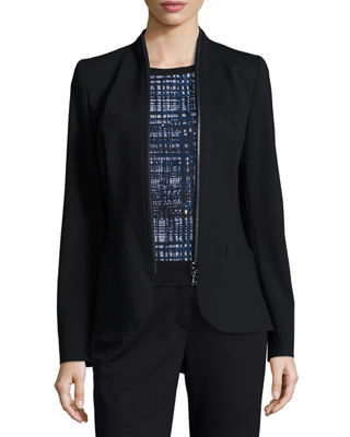 Escada Zip-Around Jersey Jacket