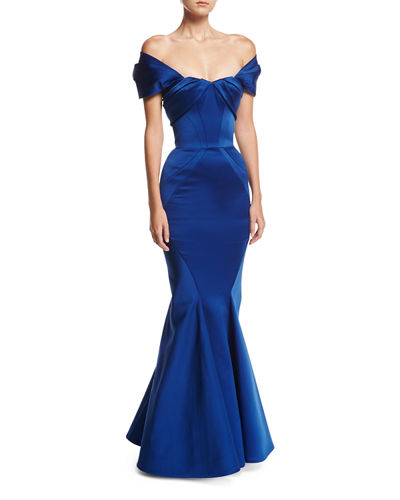 Off-the-Shoulder Sweetheart Mermaid Gown