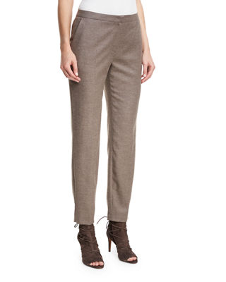 Escada Tamesne Flannel Ankle Pants