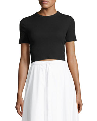 Rosetta Getty Cropped Rib Jersey T-Shirt and Matching