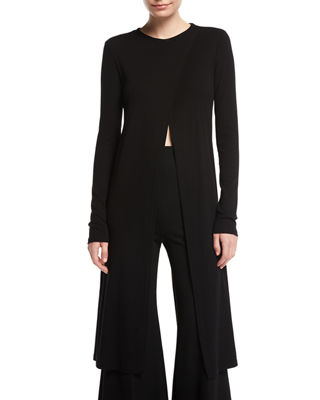 Rosetta Getty Long-Sleeve Cutaway Maxi T-Shirt