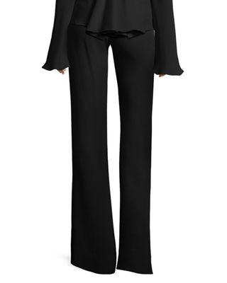 Image 2 of 3: High-Waist Crepe Flare Pants