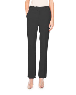 Straight-Leg Cady-Stretch Pants