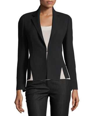 Akris Hook-Front Wool-Crepe Tailored Blazer and Matching Items