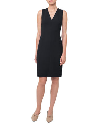 Akris Sheath V-Neck Dress