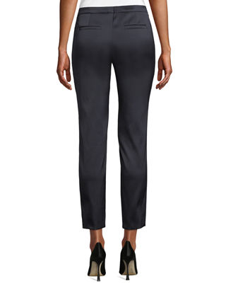 Image 2 of 3: Talas Satin Stretch Ankle Pants