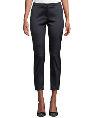 Image 1 of 3: Talas Satin Stretch Ankle Pants