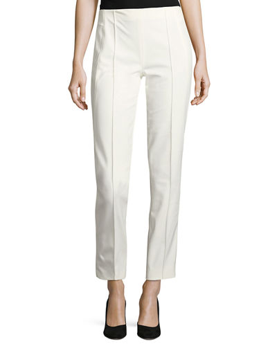 Hepburn Techno Ankle-Zip Pants