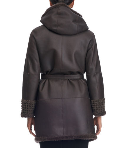 Reversible Lambskin Coat with Fur Lining