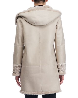 Image 2 of 4: Reversible Lambskin Coat with Fur Lining