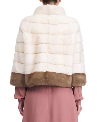 Zip-Front Mink Fur Jacket