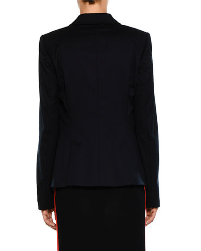 Peak Faux Double-Breasted Tailored Blazer