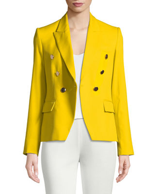 Stella McCartney Peak Faux Double-Breasted Tailored Blazer and