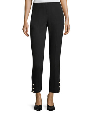 Image 1 of 2: Cropped Wool Crepe Pants