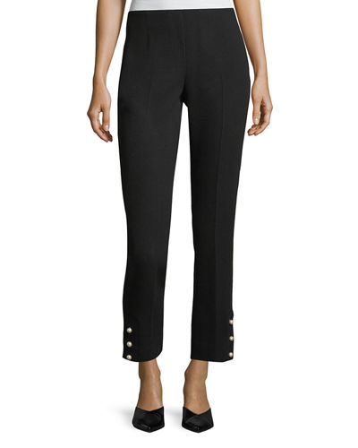 Cropped Wool Crepe Pants