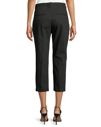 Slim-Fit Straight-Leg Cropped Pants