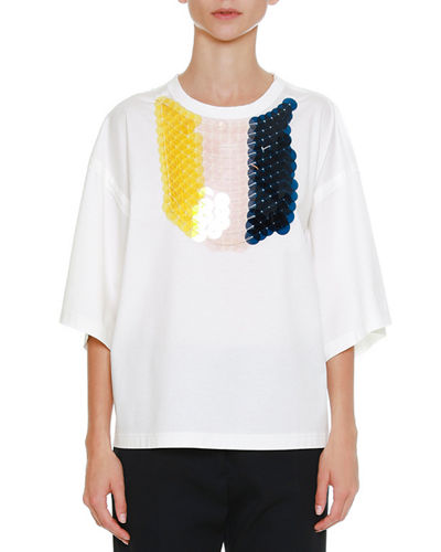 Jil Sander Crewneck Half-Sleeves T-Shirt with Detachable