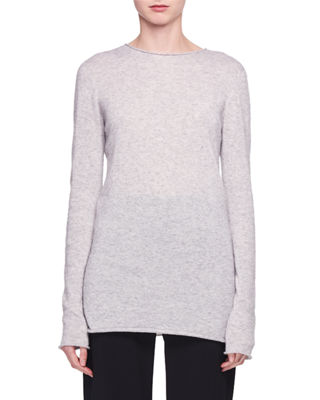 Nolita Crewneck Long-Sleeve Cashmere-Silk Sweater