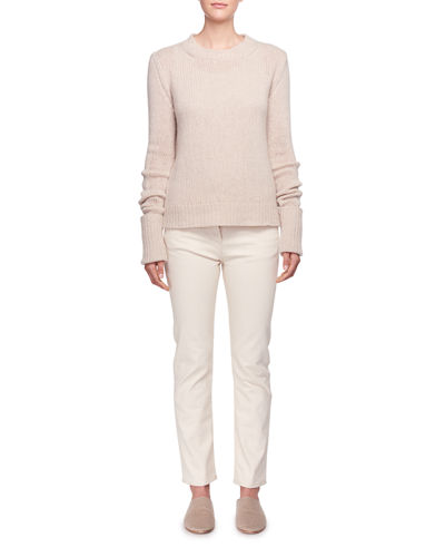 Gibet Crewneck Long-Sleeve Cashmere Sweater