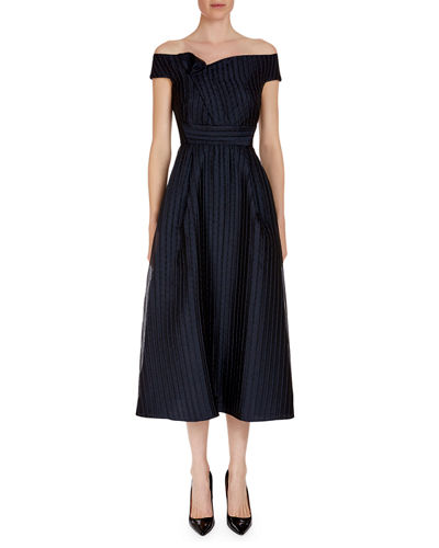 Bentham Off-the-Shoulder Tea-Length Dress