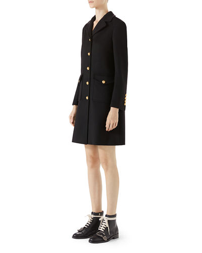 Wool Coat with Double-G
