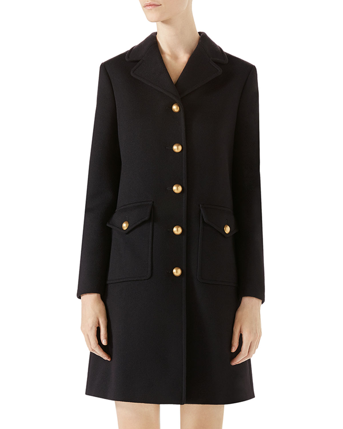 7f452527f36 Gucci Wool Coat with Double-G