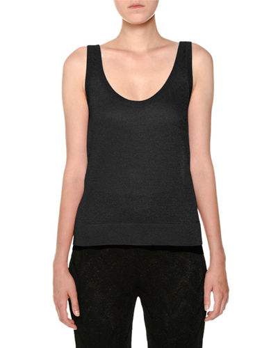 Scoop-Neck Lurex® Knit Tank Top