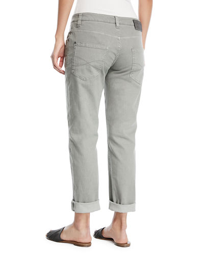 Straight-Leg Large-Cuff Jeans