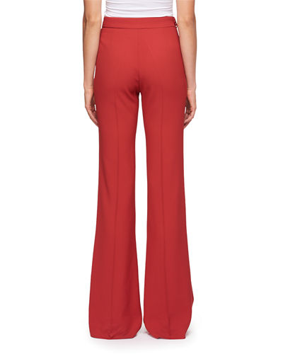 Cady Mid-Rise Flared Pants