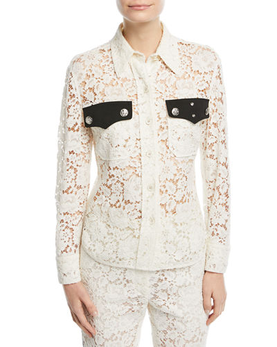 Western-Style Lace Blouse