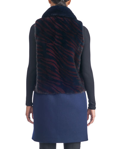 Mink Intarsia Vest with Wool Bottom