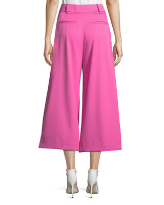Image 2 of 3: Belted Stretch-Wool Culotte Pants