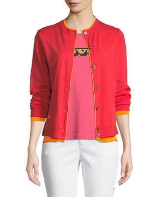 Marc Jacobs Button-Front Long-Sleeve Merino Wool Cardigan