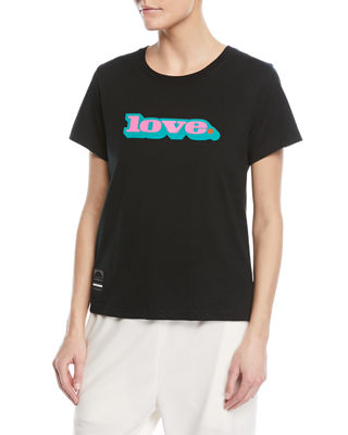Classic Crewneck Short-Sleeve Tee with Love