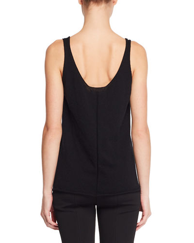 Lani Scoop-Neck Fine Cashmere Sweater Tank