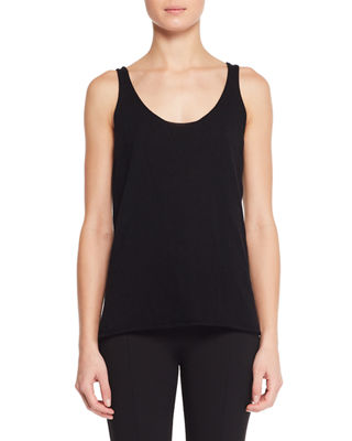 THE ROW Lani Scoop-Neck Fine Cashmere Sweater Tank