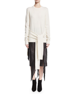 Michael Kors Collection Tie-Waist Cashmere Pullover