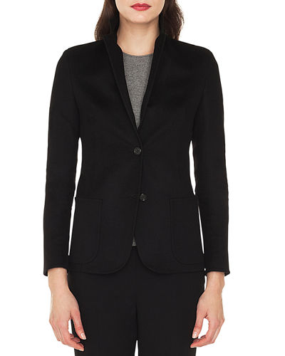 Saigon Two-Button Notched-Collar Cashmere-Wool Blazer