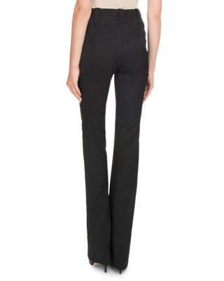 Image 2 of 2: High-Waist Boot-cut Wool Pants