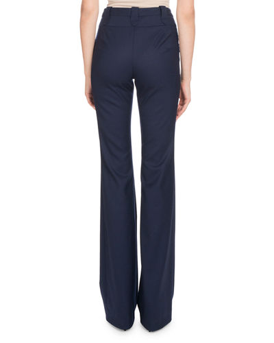 Altuzarra High-Waist Boot-cut Wool Pants