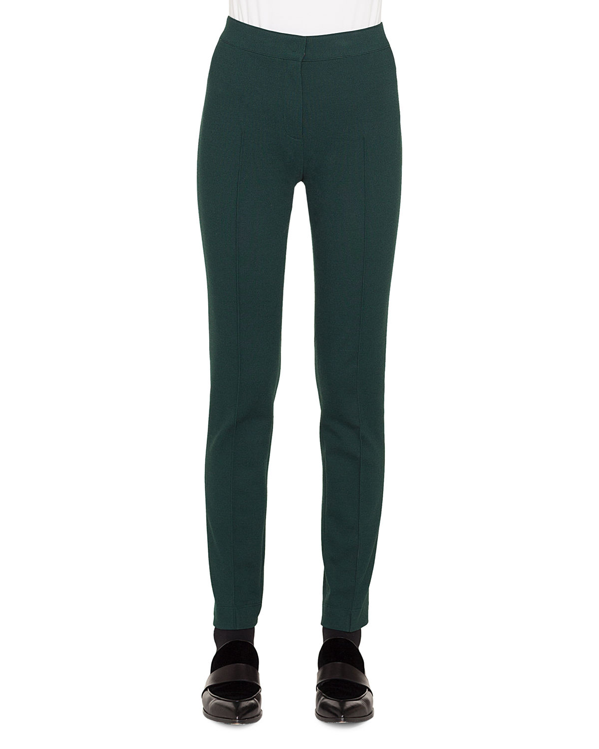 Mara Skinny Stretch-Melange Pants