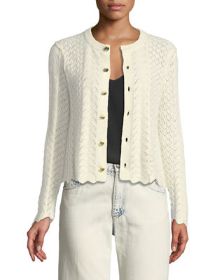 Marc Jacobs Button-Front Cross-Stitched Long-Sleeve