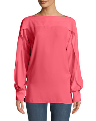 Escada Ruffled Long-Sleeve Blouse and Matching Items &