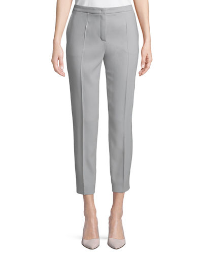 Escada Straight-Leg Wool-Blend Ankle Pants