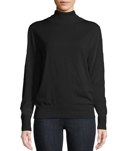 Donnie Turtleneck Long-Sleeve Cashmere-Blend Top