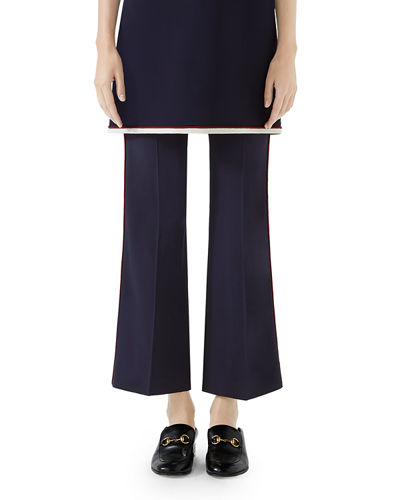Boot-Cut Cady-Stretch Cropped Pants