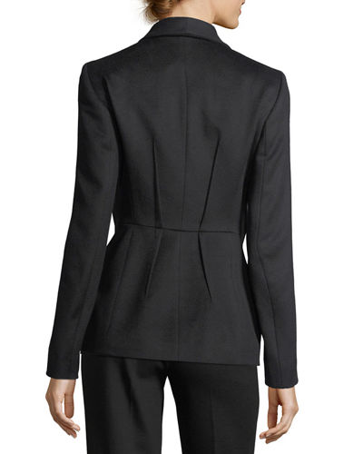 Virgin Wool Darted Blazer