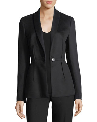 Escada Virgin Wool Darted Blazer